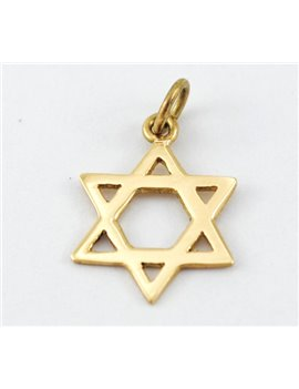 MEDAL GOLD STAR OF DAVID 18K