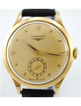 VINTAGE LONGINES REF 6055 22 18K GOLD WATCH CALIBER 27.0