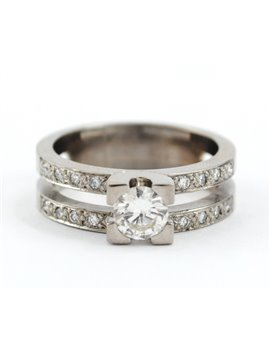 18K WHITE GOLD AND DIAMONDS