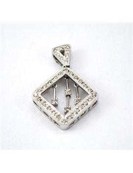 18K WHITE GOLD WITH DIAMONDS PENDANT