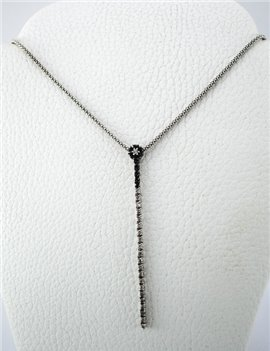 CHAIN ??AND PENDANT 18K WHITE GOLD WITH DIAMONDS