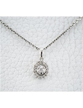18K WHITE GOLD CHAIN AND PENDANT 18K WHITE GOLD WITH DIAMONDS