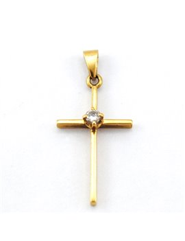 18K GOLD AND DIAMOND CROSS