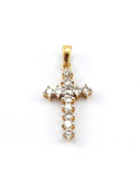 CRUZ ORO 18K Y BRILLANTES