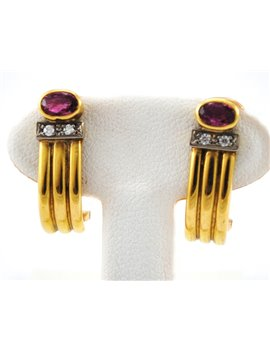 18K GOLD WITH DIAMONDS AND RUBY