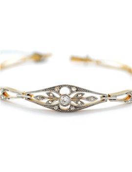 PLATINUM, 18K GOLD WITH DIAMONDS AND DIAMONDS BRACELET