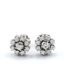 18K WHITE GOLD WITH DIAMONDS EARRINGS