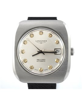 VINTAGE LONGINES RECORD AUTOMATIC STEEL WATCH 1970´S CALIBER 1955-2