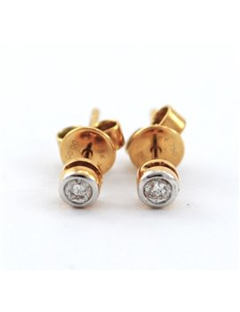 18K GOLD AND DIAMONDS EARRINGS
