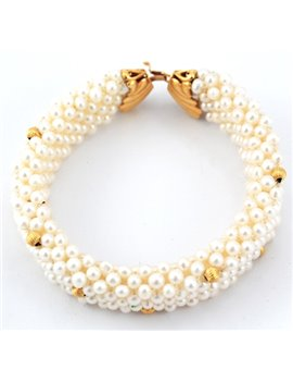 BRACELET PEARLS CULTURE AND GOLD 18K