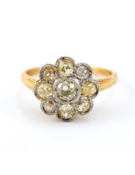 18K GOLD WITH DIAMONDS RING
