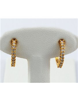 18K YELLOW GOLD AND DIAMONDS EARRING