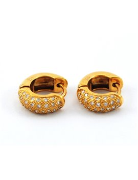 18K GOLD AND DIAMONDS EARRING