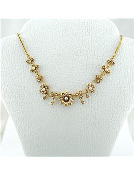 18K GOLD AND CULTURED PEARLS NECKLACE