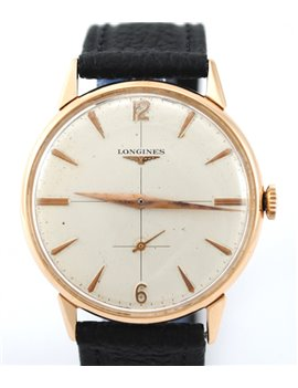 VINTAGE LONGINES 18K / 750 PINK GOLD CALIBER 232 MANUAL MOVEMENT WATCH