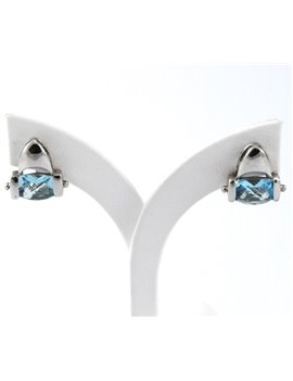 18K GOLD WITH TOPAZ EARRINGS
