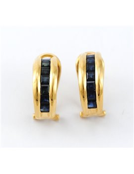 18K GOLD WITH SAPPHIRES EARRINGS