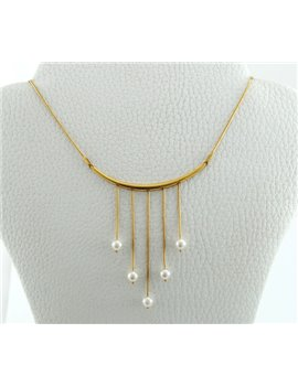 18K GOLD NECKLACE AND PEARLS CULTURE