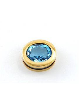 18K GOLD WITH TOPAZ PENDANT