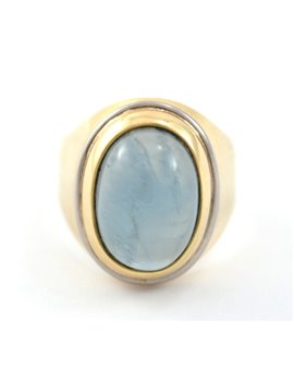 18K GOLD RING AND QUARTZ