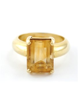 18K GOLD RING AND TOPAZ