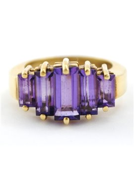 RING 18K GOLD AND AMETHYST