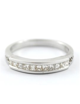 ANILLO ORO BLANCO Y BRILLANTES