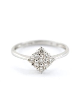 ANILLO ORO BLANCO CON BRILLANTES