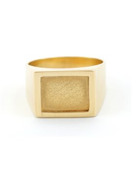 18K GOLD MAN RING