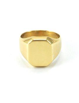 18K GOLD MAN RING
