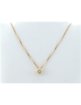 18K GOLD CHAIN AND PENDANTE WITH DIAMONDS