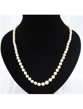 PEARLS NECKLACE HIGH TO LOW CLASP GOLD PINK