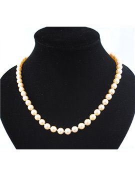 CULTURE PEARLS NECKLACE WITH 18K GOLD CLASP, DIAMONDS AND EMERALDS LONG 78 CM