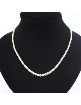 CULTURE PEARLS NECKLACE WITH CLAPS GOLD WITH BRILLIANT