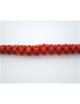 CORAL BRACELET 18K GOLD AND CLOSING