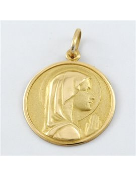 18K GOLD MEDAL WITH VIRGIN GIRL IMAGE