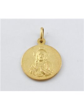 18K GOLD MEDAL WITH IMAGE