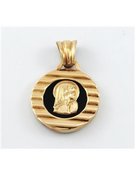18K GOLD AND ENAMEL PENDANT RELIGIOUS