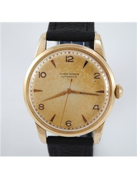 VINTAGE ULYSSE NARDIN AUTOMATIC GOLD FILLED 35 MM. CASE WATCH
