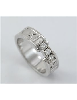 ab34487ed5c0 ... ANILLO TIFFANY   CO. ATLAS NÚMEROS ROMANOS 18K ORO BLANCO Y BRILLANTES  ...