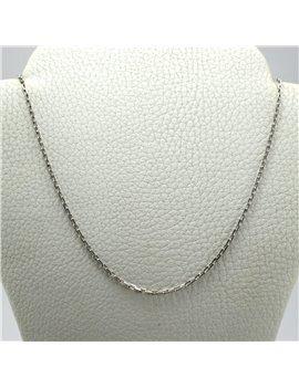 Cadena Oro 18 K Blanco Forcet de 40cm largo