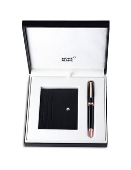 Montblanc 113391 Meisterstuck 90 Years Ballpoint Pen and 6CC Pocket Holder Set