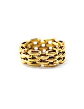 GOLD RING 18k. TYPE PANTHER WEIGHT: 3.8 GRS