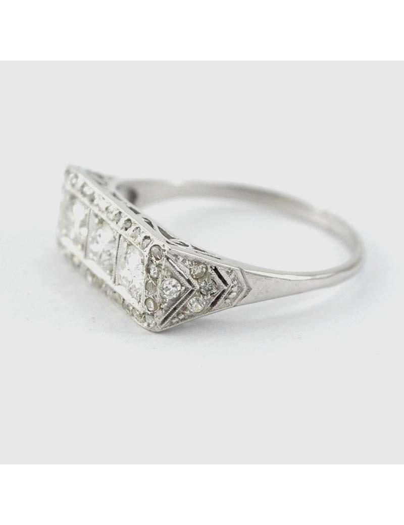 minorista online eda74 7c33f Anillo platino brillantes y diamantes