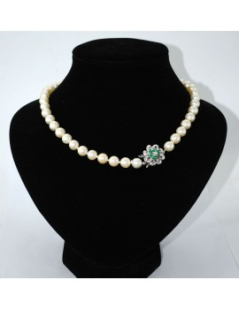 CROP PEARL NECKLACE BROOCH...