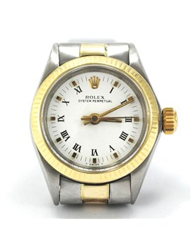 ROLEX LADY OYSTER PERPETUAL STEEL AND GOLD. CASE 25 mm YEAR 1972