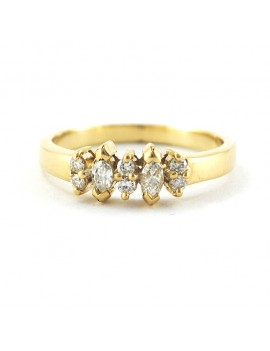 18k RING WITH 2 BRILLANT...