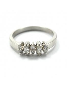 Platinum and brilliant ring