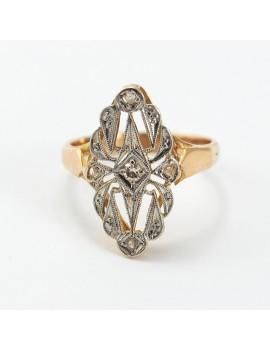 Anillo oro 18k y diamantes...
