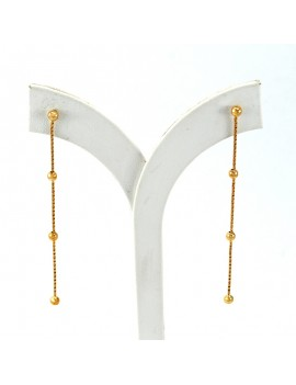 EARRINGS GOLD 18k. WEIGHT:...